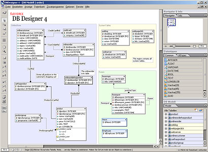 Screenshot DBDesigner 4